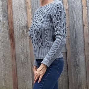 Cool Grey Cotton Sweater